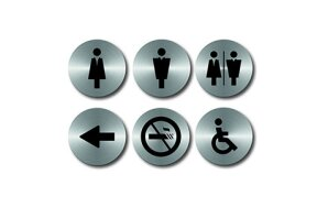 DOOR SIGNS SET 6 PCS D10cm